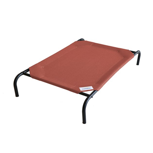 Coolaroo Steel Framed Elevated Pet Bed Terracotta Large