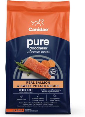 CANIDAE Grain-Free PURE Limited Ingredient Salmon & Sweet Potato Recipe Dry Dog Food