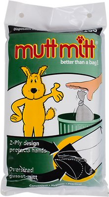Mutt Mitt Dog Waste & Poop Pick Up Bag, 100 count