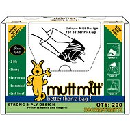 Mutt Mitt Dog Waste & Poop Pick Up Bag, 200 count