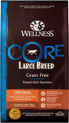 6. Wellness Core Grain-Free Large Breed Chicken & Turkey Recipe