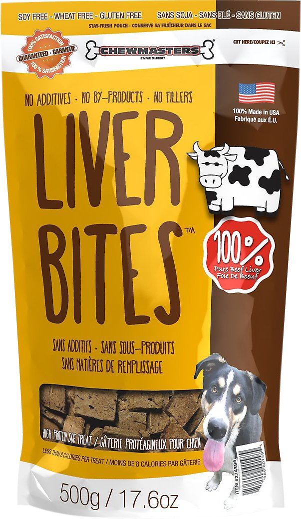 Chewmasters Beef Liver Bites Freeze Dried Dog Treats