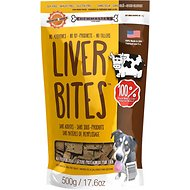Chewmasters Beef Liver Bites Freeze-Dried Dog Treats, 17.6-oz bag