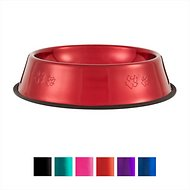 Platinum Pets Stainless Steel Embossed Non-Tip Dog Bowl, Candy Apple Red, X-Large