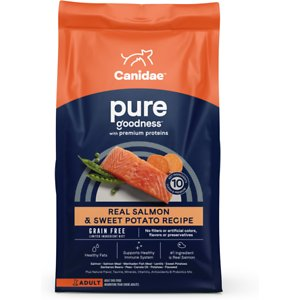 CANIDAE Grain-Free PURE Real Salmon & Sweet Potato Recipe Dry Dog Food, 12-lb bag