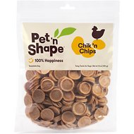 Pet 'n Shape Chik 'n Chips Dog Treats, 1-lb tub