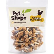 Pet 'n Shape Chik 'n Dumbbells Dog Treats, 2-lb tub