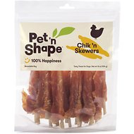 Pet 'n Shape Chik 'n Skewers Dog Treats, 1-lb tub