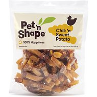 Pet 'n Shape Chik 'n Sweet Potato Dog Treats, 1-lb tub