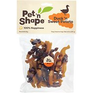 Pet 'n Shape Duck 'n Sweet Potato Dog Treats, 8-oz bag