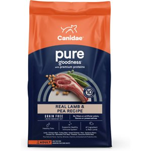 CANIDAE Grain-Free PURE Real Lamb & Pea Recipe Dry Dog Food, 4-lb bag