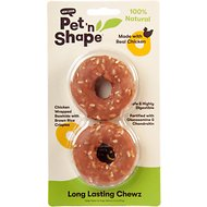 Pet 'n Shape Long Lasting Chewz Chicken Rings Dog Treats, 2 count