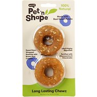 Pet 'n Shape Long Lasting Chewz Sweet Potato Rings Dog Treats, 2 count