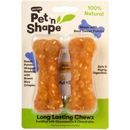 Pet 'n Shape Long Lasting Chewz Sweet Potato Bones Dog Treats, 2 count, 4-in