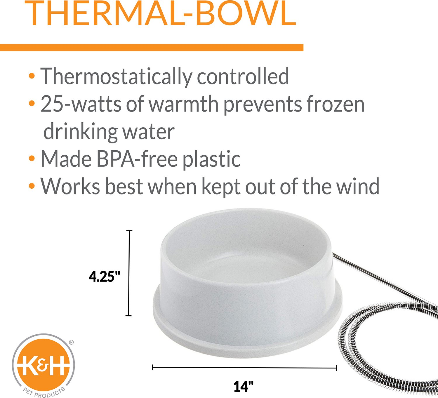 K&H Thermal Bowl