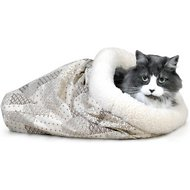 K&H Pet Products Kitty Crinkle Sack Cat Bed, Tan