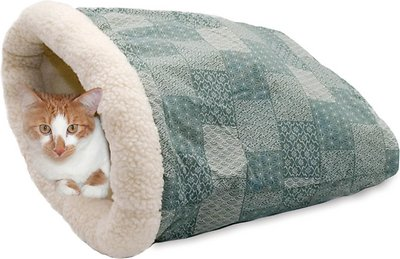 2a750bb9f1a K&H Pet Products Kitty Crinkle Sack Cat Bed, Tan - Chewy.com