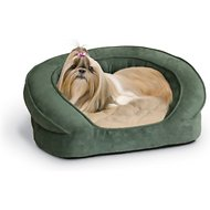 K&H Pet Products Deluxe Ortho Bolster Sleeper Pet Bed, Green, Medium