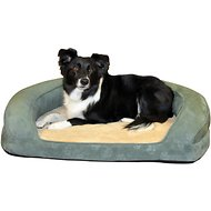 K&H Pet Products Deluxe Ortho Bolster Sleeper Pet Bed, Green, Large