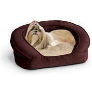 K&H Pet Products Deluxe Ortho Bolster Sleeper Pet Bed, Eggplant, Medium