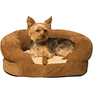 K&H Pet Products Ortho Bolster Sleeper Pet Bed, Brown, Small