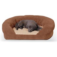 K&H Pet Products Ortho Bolster Sleeper Pet Bed, Brown, Medium