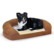 K&H Pet Products Ortho Bolster Sleeper Pet Bed, Brown, Large