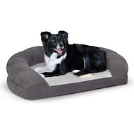 K&H Pet Products Ortho Bolster Sleeper Pet Bed, Gray, Large