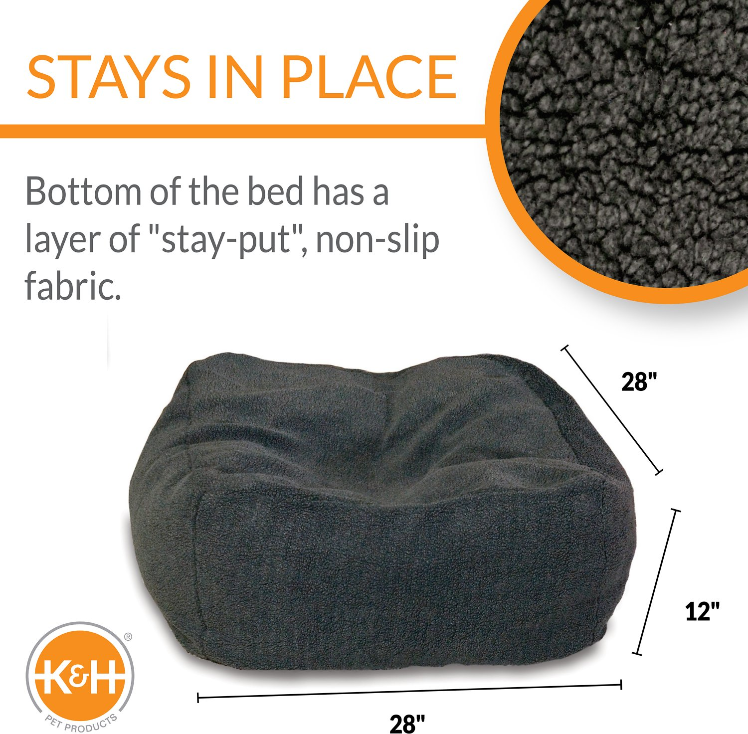 K Amp H Pet Products Cuddle Cube Pet Bed Grey Medium Chewy Com
