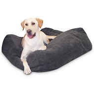 K&H Pet Products Cuddle Cube Pet Bed, Grey, Large