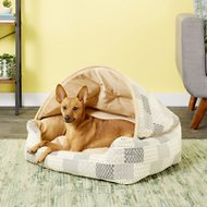 K&H Pet Products Hooded Lounge Sleeper Pet Bed, Tan