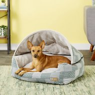 K&H Pet Products Hooded Lounge Sleeper Pet Bed, Teal