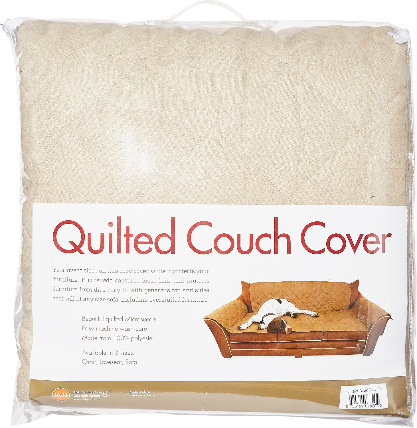 K&H Pet Products Furniture Cover for Couches Tan Chewy
