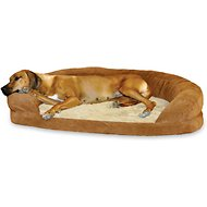 K&H Pet Products Ortho Bolster Sleeper Pet Bed, Brown, X-Large