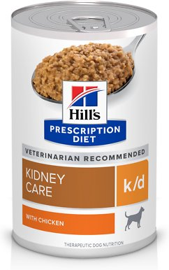 Hill's Prescription Diet k/d Kidney Care with Chicken Canned Dog Food, 13-oz, case of 12 - Chewy.com