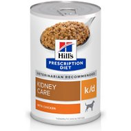 Hill's Prescription Diet k/d Kidney Care with Chicken Canned Dog Food, 13-oz, case of 12