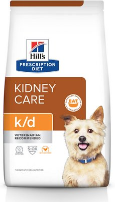 Hill S Prescription Diet K D Kidney Care With Chicken Dry Dog Food 27 5 Lb Bag Chewy Com