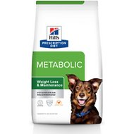 Hill's Prescription Diet Metabolic Weight Management Chicken Flavor Dry Dog Food, 17.6-lb bag