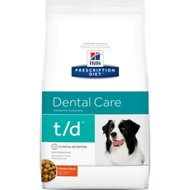 Hill's Prescription Diet t/d Dental Care Chicken Flavor Dry Dog Food, 25-lb bag