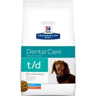Hill's Prescription Diet t/d Dental Care Chicken Flavor Small Bites Dry Dog Food, 5-lb bag