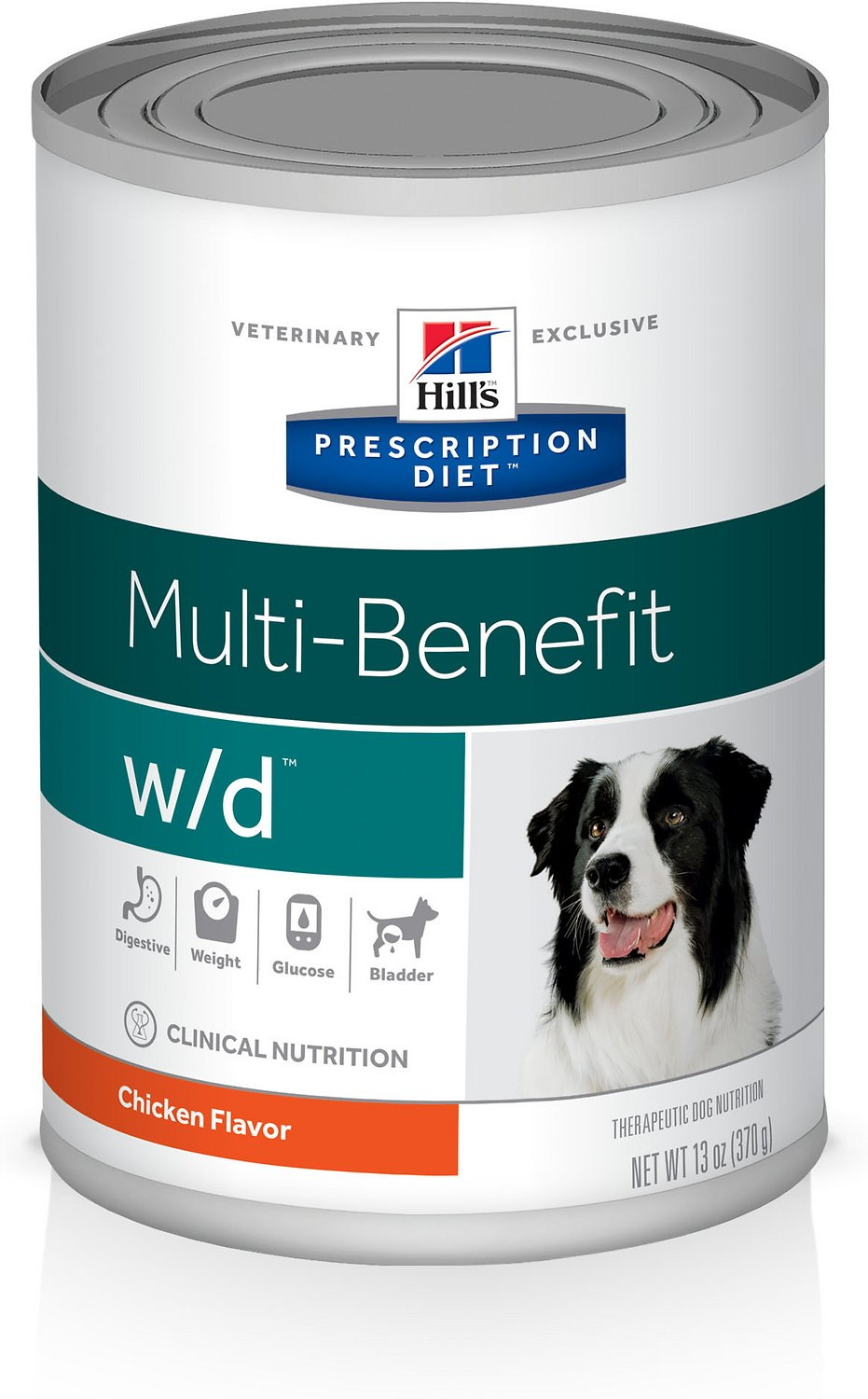 Hill's Prescription Diet w/d Multi-Benefit Digestive, Weight, Glucose, Urinary Management with Chicken Canned Dog Food