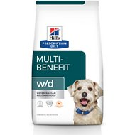 Hill's Prescription Diet w/d Multi-Benefit Digestive, Weight, Glucose, Urinary Management Chicken Flavor Dry Dog Food, 8.5-lb bag