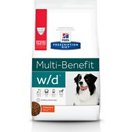 Hill's Prescription Diet w/d Multi-Benefit Digestive, Weight, Glucose, Urinary Management Chicken Flavor Dry Dog Food, 27.5-lb bag