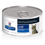 Hill's Prescription Diet z/d Original Skin/Food Sensitivities Canned Cat Food, 5.5-oz, case of 24