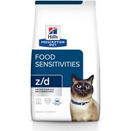 Hill's Prescription Diet z/d Original Skin/Food Sensitivities Dry Cat Food, 4-lb bag