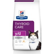 Hill's Prescription Diet y/d Thyroid Care Original Dry Cat Food, 4-lb bag