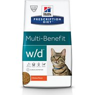 Hill's Prescription Diet w/d Multi-Benefit Digestive/Weight/Glucose/Urinary Management with Chicken Dry Cat Food, 17.6-lb bag