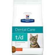 Hill's Prescription Diet t/d Dental Care Chicken Flavor Dry Cat Food, 8.5-lb bag