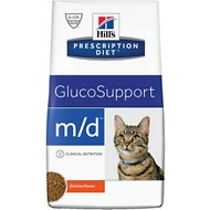 Hill's Prescription Diet m/d GlucoSupport Chicken Flavor Dry Cat Food, 8.5-lb bag