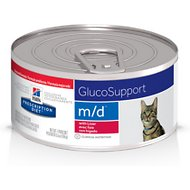 Hill's Prescription Diet m/d GlucoSupport with Liver Flavor Canned Cat Food, 5.5-oz, case of 24